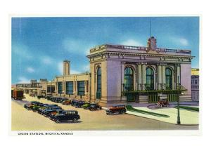 Wichita, Kansas - Exterior View of Union Station by Lantern Press