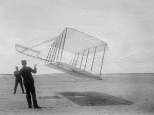 Wilbur and Orville Wright Flying Glider Photograph by Lantern Press