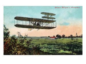 Wilbur Wright's Aeroplane View by Lantern Press