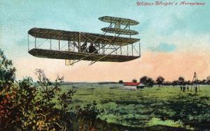 Wilbur Wright's Aeroplane View by Lantern Press