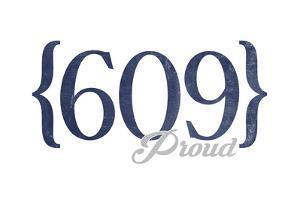 Wildwood, New Jersey - 609 Area Code (Blue) by Lantern Press