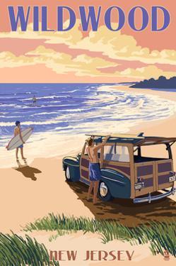 Wildwood, New Jersey - Woody on the Beach by Lantern Press
