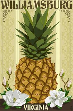 Williamsburg, Virginia - Colonial Pineapple by Lantern Press