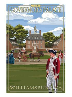 Williamsburg, Virginia - Governor's Palace in Spring by Lantern Press