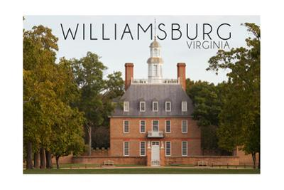 Williamsburg, Virginia - Governors Palace Front View by Lantern Press