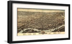 Wilmington, Delaware - Panoramic Map by Lantern Press