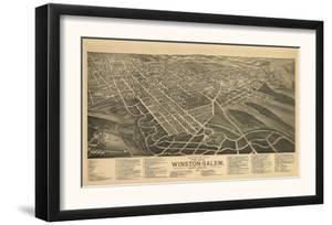 Winston-Salem, North Carolina - Panoramic Map by Lantern Press