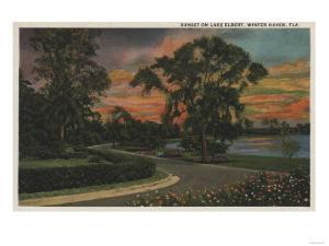Winter Haven, Florida - Sunset View of Lake Elbert by Lantern Press