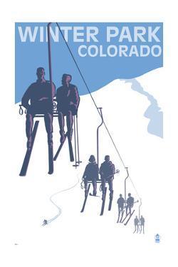 Winter Park, Colorado - Ski Lift by Lantern Press