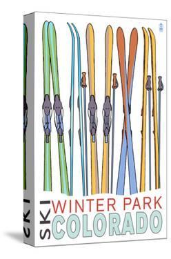 Winter Park, Colorado - Skis in Snow by Lantern Press
