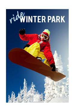 Winter Park, Colorado - Snowboarder by Lantern Press
