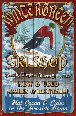 Wintergreen, Virginia - Ski Shop by Lantern Press