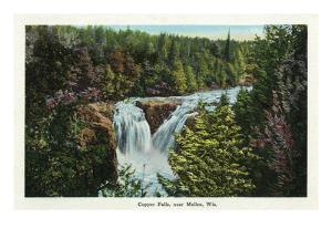 Wisconsin - Copper Falls Near Mellen Scene by Lantern Press