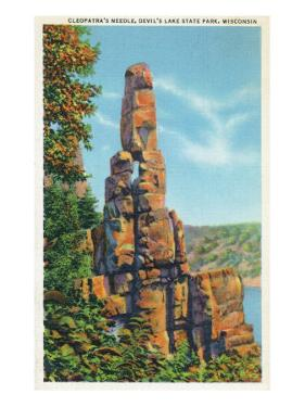 Wisconsin, Devil's Lake State Park View of Cleopatra's Needle by Lantern Press