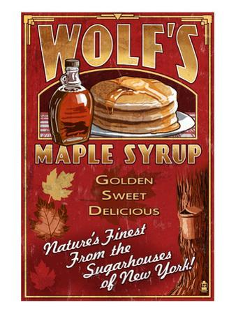 Wolf's Maple Syrup - New York by Lantern Press
