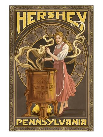 Woman Making Chocolate - Hershey, Pennsylvania by Lantern Press