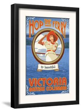 Woman Riding Ferry, Victoria, BC Canada by Lantern Press