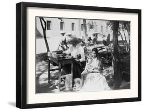 Woman with Baby and Public Letter Writer Photograph - Mexico by Lantern Press