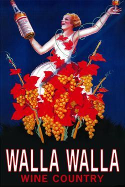 Woman with Bottle - Walla Walla, Washington by Lantern Press