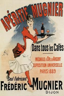 Woman with Tray - Vintage Apertif Mugnier Poster by Lantern Press