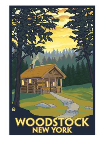 Woodstock, New York - Cabin Scene by Lantern Press