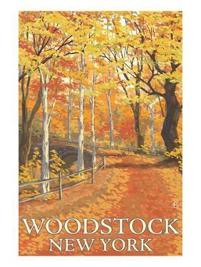 Woodstock, New York - Fall Colors Scene by Lantern Press