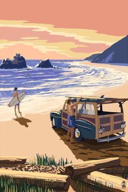 Woody on Beach by Lantern Press