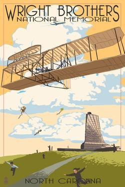 Wright Brothers National Memorial - Outer Banks, North Carolina by Lantern Press