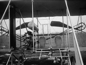Wright Brothers Plane with Pilot and Passenger Seats Photograph - Dayton, OH by Lantern Press