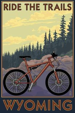 Wyoming - Ride the Trails by Lantern Press