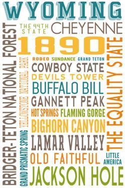Wyoming - Typography by Lantern Press