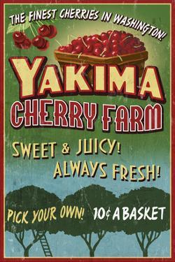 Yakima, Washington - Cherries by Lantern Press