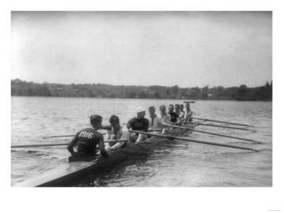Yale Rowing Crew During Practice Photograph - New Haven, CT by Lantern Press