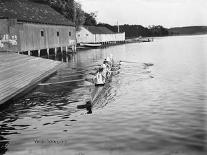 Yale University Rowing Crew Team Photograph - New Haven, CT by Lantern Press
