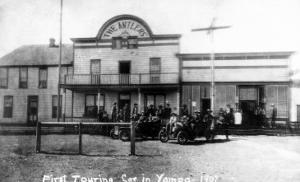 Yampa, Colorado - First Touring Car in Town, Antlers Hotel by Lantern Press