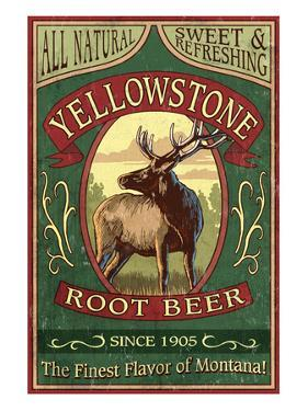 Yellowstone National Park - Elk Root Beer by Lantern Press