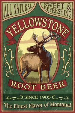 Yellowstone National Park - Elk Root Beer by Lantern Press