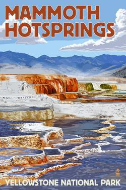Yellowstone National Park - Mammoth Hotsprings by Lantern Press