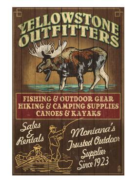 Yellowstone National Park - Moose Outfitters by Lantern Press