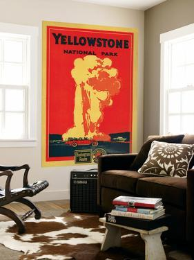 Yellowstone, Old Faithful Advertising Poster - Yellowstone National Park by Lantern Press