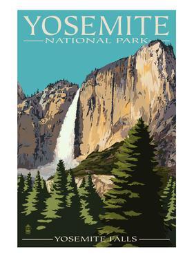 Yosemite Falls - Yosemite National Park, California by Lantern Press