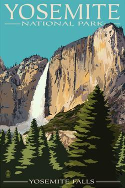 Yosemite Falls - Yosemite National Park, California by Lantern Press