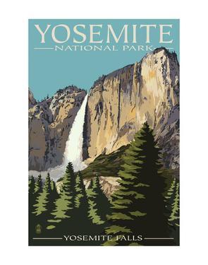 Yosemite Falls by Lantern Press