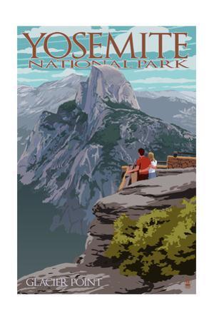 Yosemite National Park, California - Glacier Point and Half Dome by Lantern Press