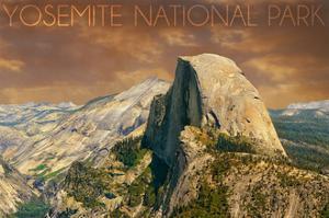 Yosemite National Park, California - Half Dome from Glacier Point by Lantern Press