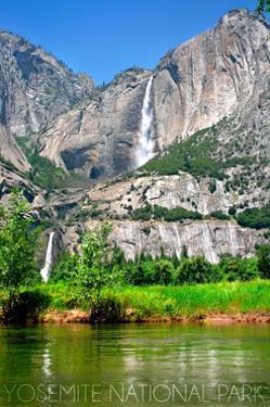 Yosemite National Park, California - Yosemite Falls by Lantern Press