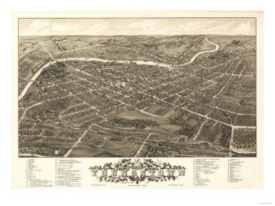 Youngstown, Ohio - Panoramic Map by Lantern Press