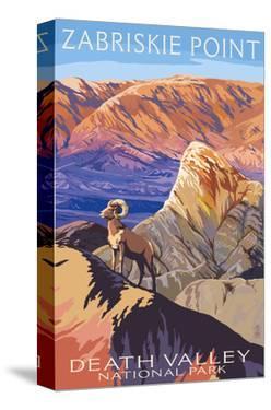 Zabriskie Point - Death Valley National Park by Lantern Press