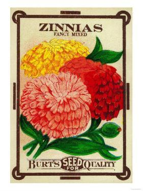 Zinnias Seed Packet by Lantern Press