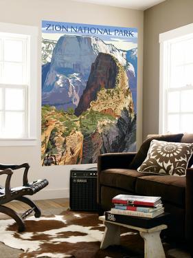 Zion National Park - Angels Landing by Lantern Press